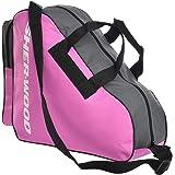 SHER-WOOD – Skridskoväska med handtag I Inliner-väska I Ishockey-väska med dragkedja och praktiska fack I inkl. justerbar axe