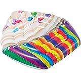 Intex Floating Raft Cupcake Mat, Multi-colour, 142 x 135 cm, 58770
