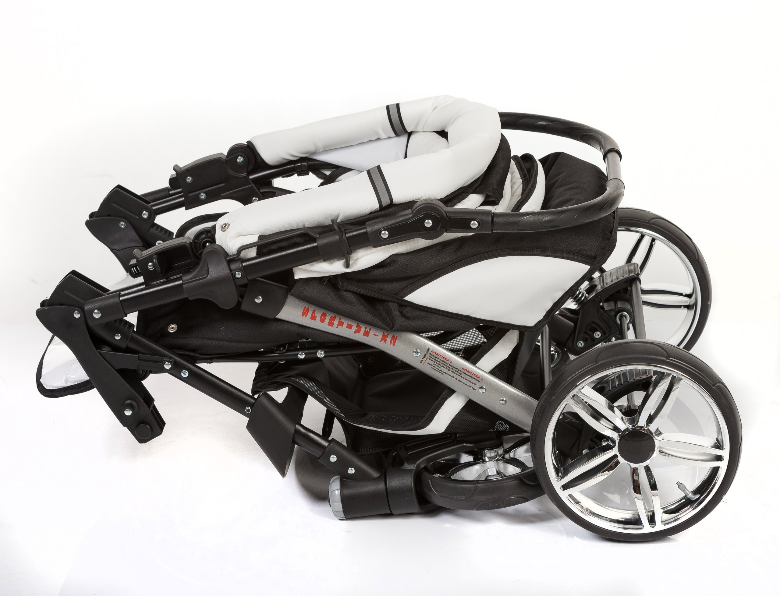 3-in-1 Travel System with Baby Pram, Car Seat, Pushchair & Accessories, Black & White   9