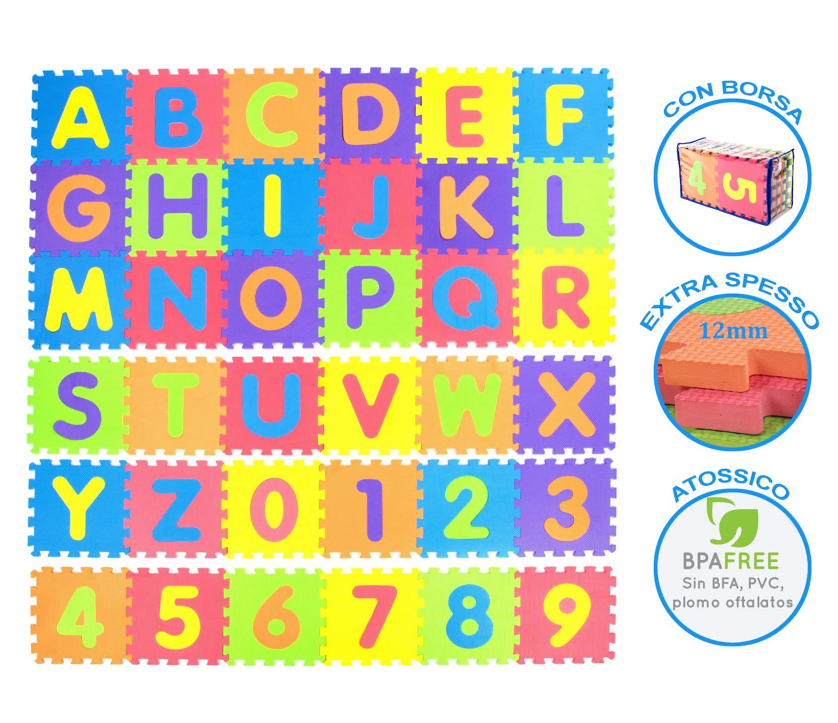 ec7ef700cc Tibelara Grande Tappeto Puzzle Bambini | Extra Morbido | Numeri E ...