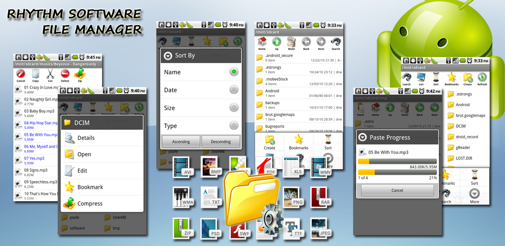 Rhythm Software in the Test File Manager