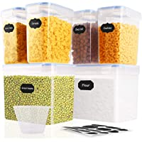 SOLEDI Boîtes Hermétique Conservation Alimentaire 6 pièces, récipient de Stockage scellé sans BPA, adapté aux céréales…