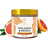 Khadi Essentials Vitamin C Clay Mask for Glowing Skin with Vitamin C, E & Hyaluronic Acid - for Fine Lines, Anti-Aging, Wrink
