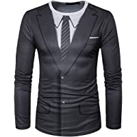 YCHENG Uomo Slim Fit Pullover manica lunga Felpe Colorful 3D Print maglietta di stampa