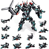 MOONTOY STEM Spielzeug, 577 PCS Roboter Spielzeug für 6-jährige Jungen, 25-in-1-Space-Fighter-Bausteine für das…