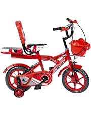 Speed bird cycle industries Boy's and Girl's 12-T Robust Double Seat Biycles Baby Cycle, 2-5 Years,Red