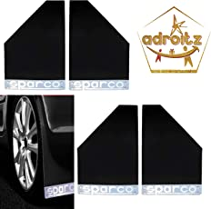 Adroitz Sparco Racing Style Rubberized Car Mudflaps for Aspire - Black - Set of 4