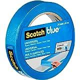 ScotchBlue Premium schildercrêpe universeel, 24 mm x 41 m, veelzijdig Scotch plakband voor schilderwerk en decoratie, voor bi