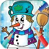 Livre de coloriage de bonhomme de neige