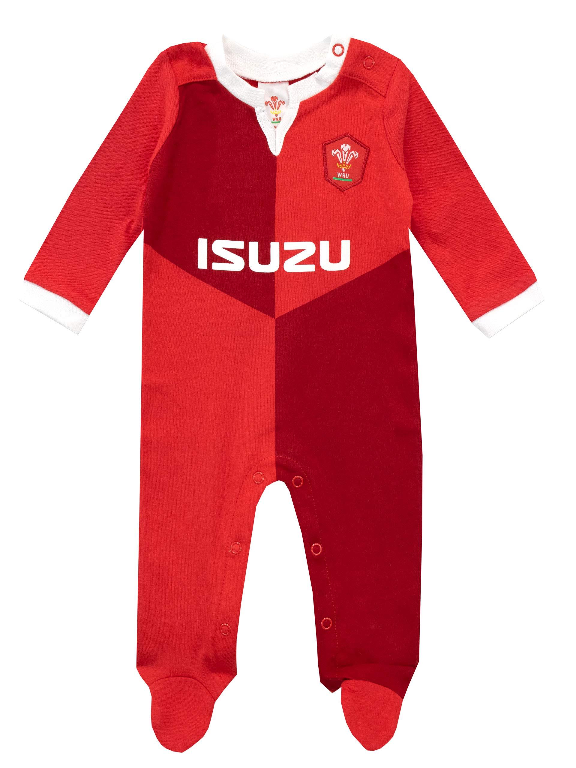 WRU Pijama Entera para Niños Bebés Wales Rugby 1