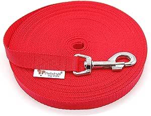 mit Handschlaufe 1 Meter bis 30 Meter Twinkys Dog Style Schleppleine gummiert 15 mm oder 20 mm breit f/ür Hunde bis 50 kg