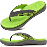 ONCAI Mens Slide Sandals Open Toe Athletic Adjustable Straps Orthotic Plantar Fasciitis Sport Sandals with Soft Cushion Arch