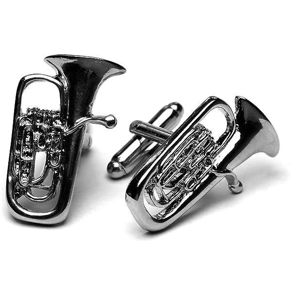 Flugel Horn silver-plated cufflinks