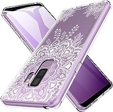 LK Galaxy S9 Plus Hülle, Ultra Schlank Dünn TPU Gel Gummi Weiche Haut Silikon Schutzhülle Abdeckung Case für Samsung Galaxy S9 Plus (Blume)