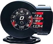 Professional Magician OBD Head Up Display Car Digital Boost Gauge Voltage Speed Meter ect. Water Temp Alarm Auto Diagnostic T