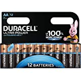 Duracell Ultra Power Piles Alcalines type AA, Lot de 12 piles
