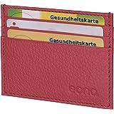 Amazon Brand - Eono Kreditkartenetui mit Scheinfach aus Leder für Damen und Herren – Design mit RFID Ausleseschutz-Funktion (