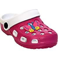 Girls Kids Toddlers Youth EVA Beach Clogs Summer Butterfly Slip On Pool Sandals Mules UK Sizes 4-2