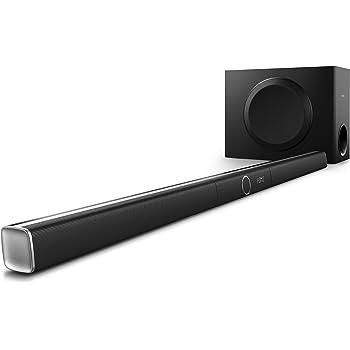 Philips HTL5160B Barre de son avec caisson de basses sans fil, Bluetooth, NFC, Spotify Connect, HDMI ARC, 320W, Noir