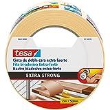 Tesa TE05672-00000-11 dubbelzijdig plakband, extra sterk, 25 m x 50 mm, beige, standaard
