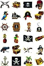 Oblique Unique Piraten Tattoo Set 24 Kindertattoos - verschiedene Piraten Motive Kinder Spielen