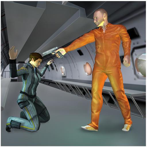 Gefangenen-Flucht-Flugzeug-Entführer (Software Für Visuelle Effekte)