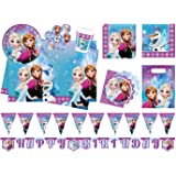Procos 10110970B Partyset Disney Frozen Northern Lights, Größe XL, 52 teilig