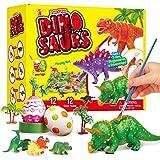ARANEE Dinosauri di Pittura per Bambini, DIY Pittura Dinosauro Kit, 3D con Dinosauri Kit di Pittura per Bambini creatività Ar