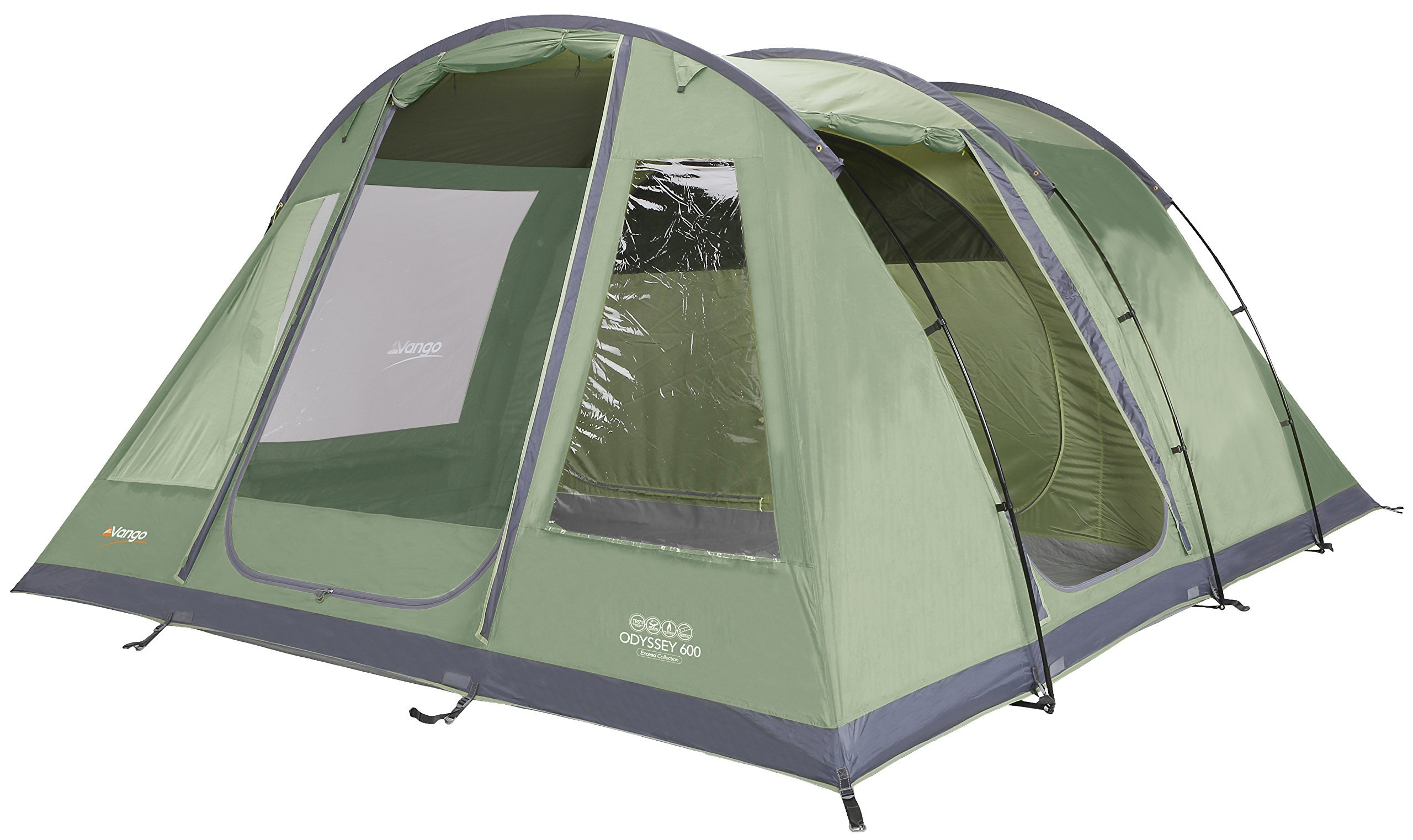 Vango Odyssey Family Tunnel Tent, Epsom Green, 600 1