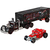 Hot Wheels Super Rigs, Transporter Vehicle with 1 Hot Wheels 1:64 Scale Car, Gift for Collectors & Kids Ages 3 Years Old & Up