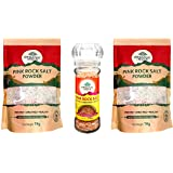 ORGANIC INDIA Rock Salt (Pack of 2 with Crusher)