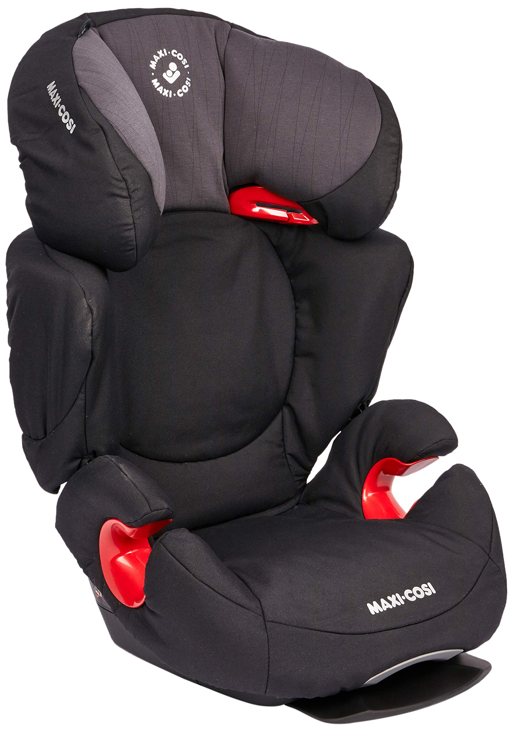 Maxi-Cosi Rodi AirProtect Child Car Seat, Lightweight Highback Booster, 3.5-12 Years, 15-36 kg, Frequency Black Maxi-Cosi Child car seat, suitable from 3.5 to 12 years (15 - 36kg) Easily install this safe car seat with a 3-point seat belt and attach the anchorage point in the head rest through your cars head rest Patented air protect technology in headrest reduces the risk of head and neck injuries up to 20 percent 3