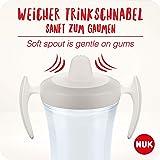 NUK Trainer Cup Trinklernbecher, weiche Trinktülle, auslaufsicher, 6+ Monate, BPA-frei, 230ml, Tukan, gelb, weiß