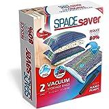 Sacs de rangement sous vide Spacesaver Premium, 80% d'espace de rangement en plus (2 Jumbo)