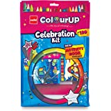 Cello ColourUP Celebration Kit - Mega Gift Pack | 15 Oil Pastels | Sketch Pens | 12 Jumbo Wax Crayons | 8 Assorted Items | Fr