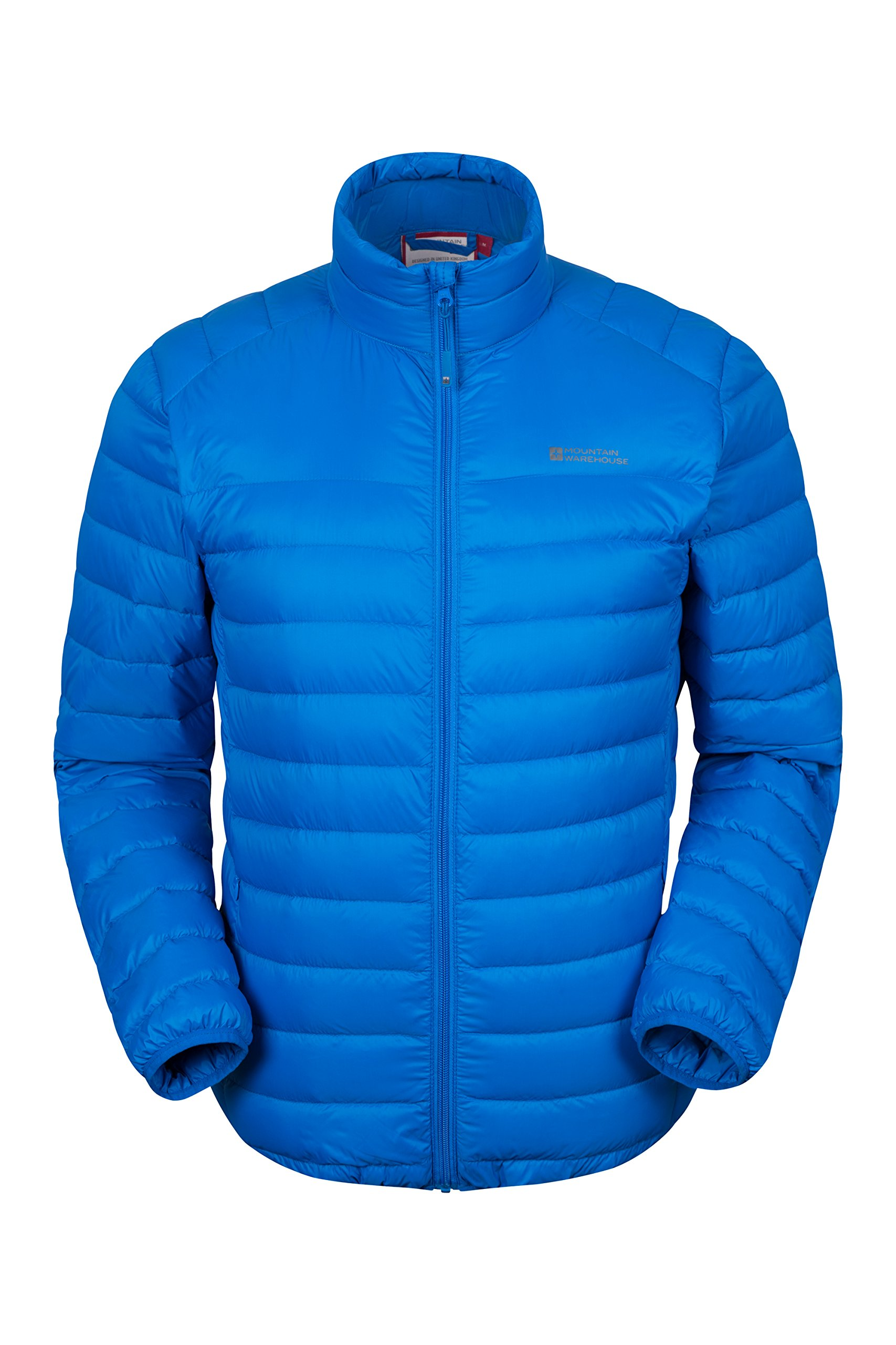 81M7L6QhskL - Mountain Warehouse Featherweight Mens Down Jacket - Lightweight Winter Coat, Easy Care, Packaway Bag, Water Resistant…