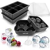 EINFÜHRUNGSANGEBOT - Lacari ® Eiswürfelform für perfekte Eiswürfel - 2 + 1 Silikonform für die perfekten Eiswürfel - Gratis E-Book + Trichter zum perfekten Befüllen des Ice Trays