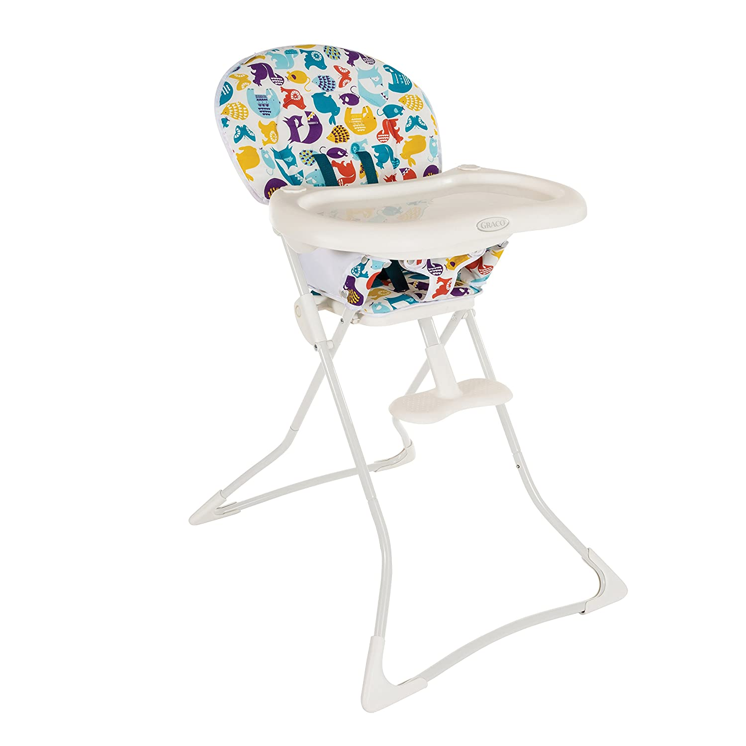 Graco Tea Time pact Folding High Chair with Colourful