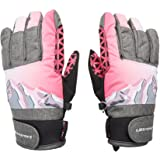 Ultrasport Rocky Guantes de esquí para niños, Flexibles, con una Gran Libertad de Movimientos, Impermeables, Resistentes al V