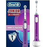 Oral-B Junior Brosse à Dents Électrique Rechargeable pour Enfants de 6 Ans et Plus, Violette