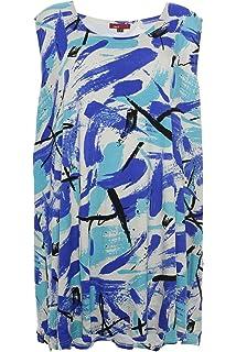X Two Jeanay T Shirt Tunika Damen Kurzarm Viskose Lagenlook Plusgröße Übergröße