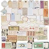 180Pcs 3Boîtes Autocollants Décoratifs Stickers Adhésif Etiquettes Rétro Gommettes Papier Scrapbooking Papeterie DIY Album Dé