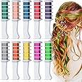 10 kleuren haarkrijt voor meisjes kinderen, Kalolary tijdelijke heldere haarkrijt metallic glitter haarkleurverf voor meisjes