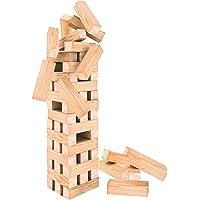 Oramics Jeu de tour XXL empilable - 60 pièces en bois - Tour mobile - Jeu d'adresse de 50 cm de haut et 12 cm de large…