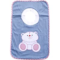 THE LITTLE LOOKERS® Cotton Baby Bibs with Comfortable T-Shirt Neck for Bottle Feeding & Breast Feeding | Double Layered Skins for Quick Absorption & Fast Drying | Pack of 1 Bib