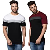 Tfortees Men's Slim Fit T-shirt (Set of 2)