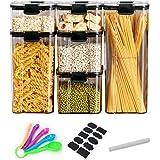 Diskary Boîte de Rangement de Cuisine, Hermétique Pot de Conservation Alimentaires, Pour Stocker Farine,Sucre,Les Cereales -