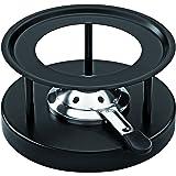 KUHN RIKON 32019 Réchaud Simple avec revètement par Poudre, INOX, Noir
