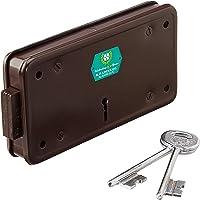 Harrison H-0024 Iron Four Lever Side Shutter Lock Set (Silver)