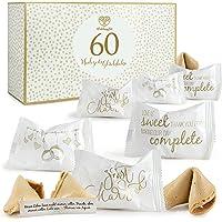 WeddingTree 60 x Glückskekse Hochzeit - Made in Germany - Einzeln Verpackt - Glückskekse mit Sprüchen deutsch…